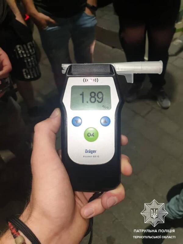 1.89 проміле — з таким вмістом алкоголю сьогодні вночі патрульні злапали тернополянина на AUDI