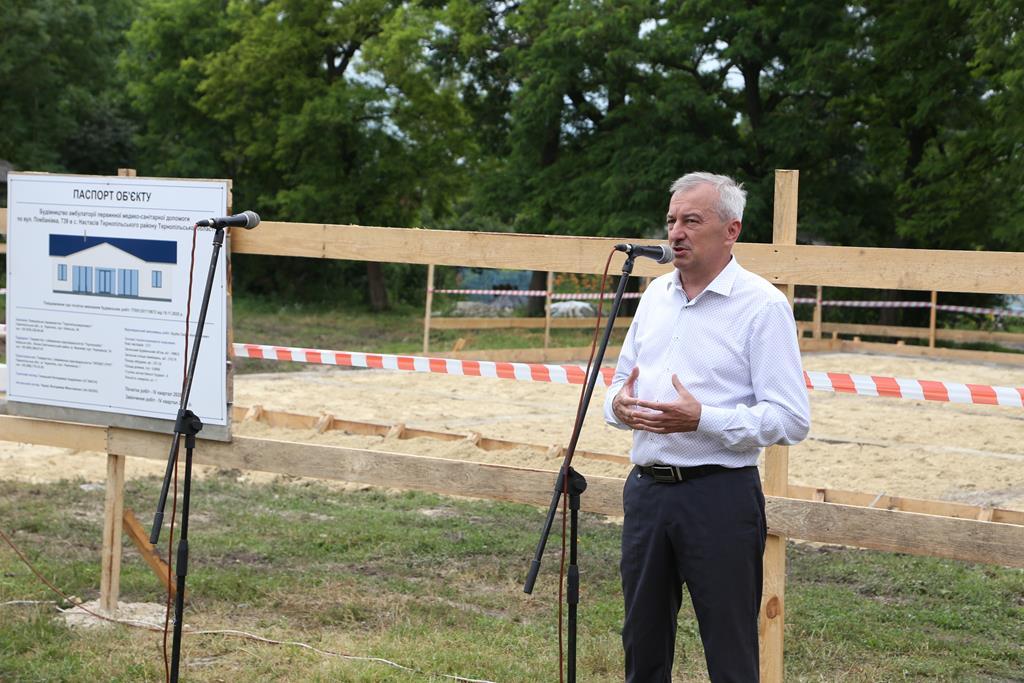 У Настасові відбулась історична подія: представники влади разом з жителями заклали перший камінь у будову майбутньої амбулаторії (ВІДЕО)