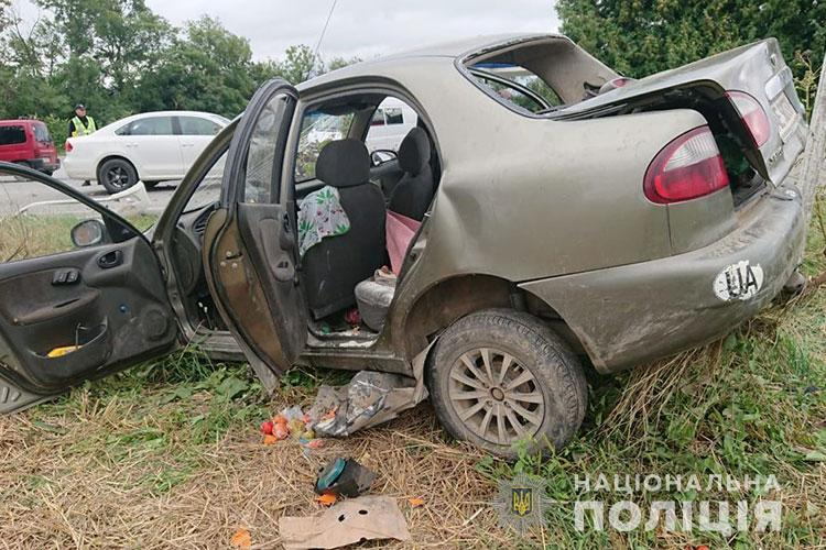 На Чортківщині зіткнулися дві автівки: травмувалося четверо дорослих та дитина (ФОТО)