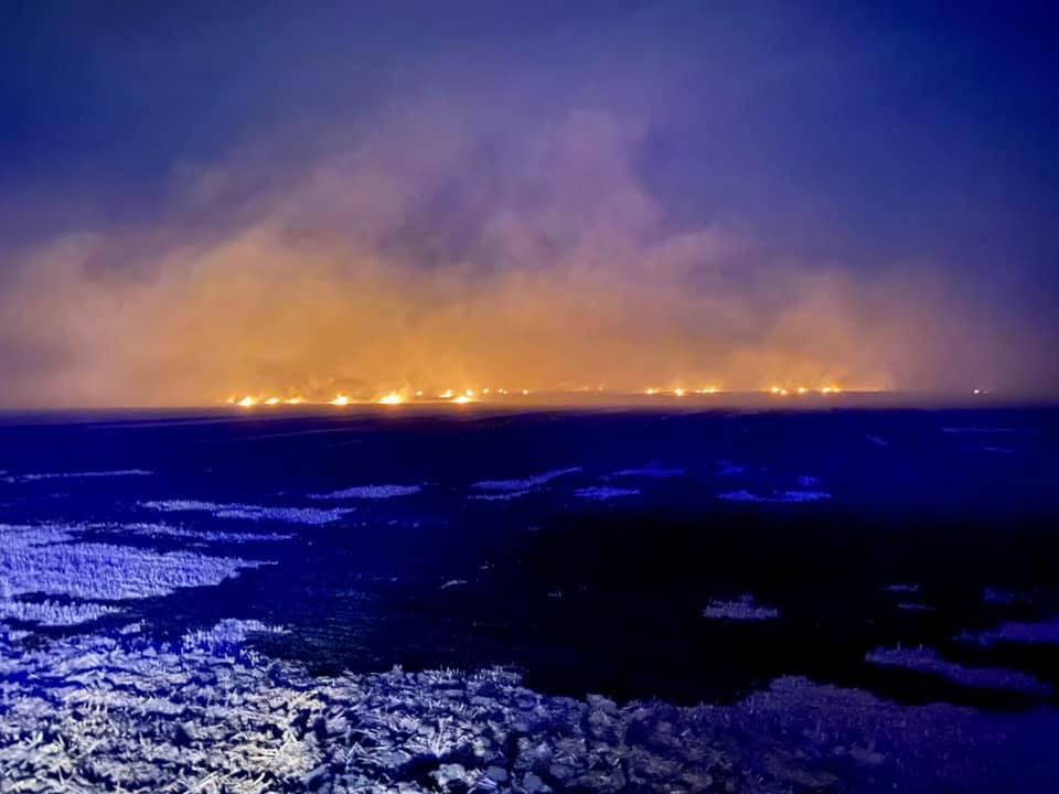 Пожежа набирала обертів: на Чортківщині вогонь охопив 4 га поля (ФОТО)
