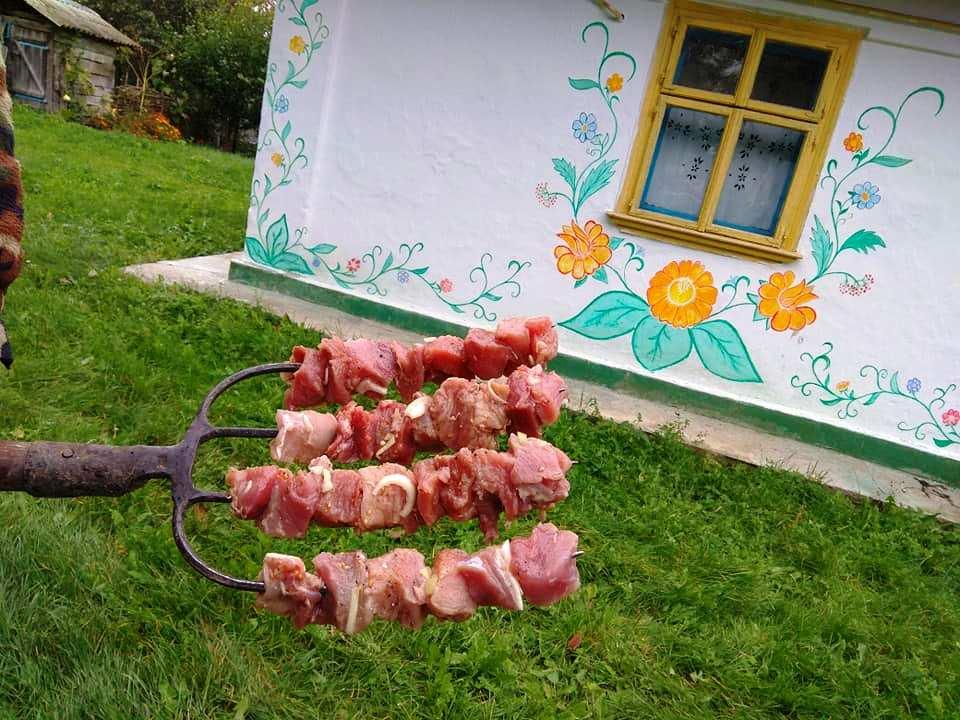 Пара з Чорткова для приготування шашлика використала господарські вила замість шампурів (ФОТОФАКТ)