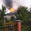 Гасили чотири пожежні: у Великих Гаях горіла приватна хата