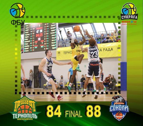 БК Тернопіль майже врятував домашній матч, але програв 4 очки